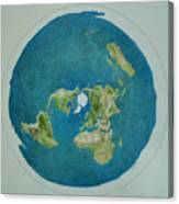 My Flat Earth Canvas Print