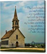 My God My Strength My Salvation Canvas Print