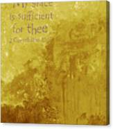 My Grace Is Sufficient Canvas Print