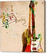 My Guitar Can Sing Canvas Print