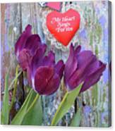 My Heart Sings For You Canvas Print