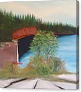 My Kayak Sitting On The Beach At Split Rock Canvas Print