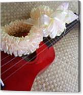 My Little Red Ukulele Canvas Print