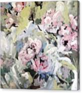 My Momma's Peonies Canvas Print