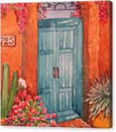 My Neighbors Blue Door  Canvas Print