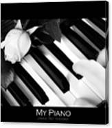 My Piano Bw Fine Art Photography Print Canvas Print
