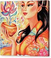 Kimono Flower Canvas Print