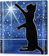 My Shinning Star - Christmas Cat Canvas Print