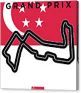My Singapore Grand Prix Minimal Poster Canvas Print
