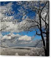 My Sunday Happy Holidays Card Canvas Print