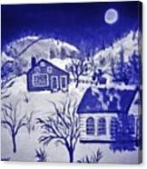 My Take On Grandma Moses Art Canvas Print