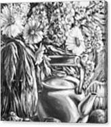 My Tea Kettle Black And White Canvas Print