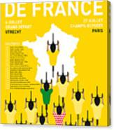 My Tour De France Minimal Poster Etapes 2015 Canvas Print