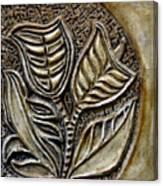 Vintaje Tile With Calas  Canvas Print