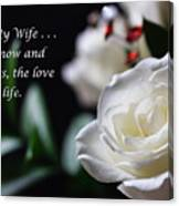 For My Wife - Expressions Of Love Canvas Print
