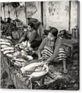 Myanmar Market Canvas Print