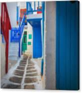 Mykonos Alley Canvas Print