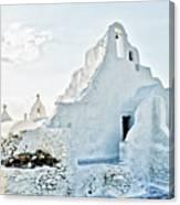 Mykonos Church In White Canvas Print