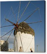 Mykonos Icon Windmill Canvas Print