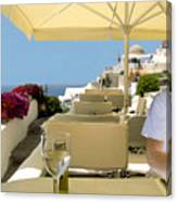 Mykonos Restaurant Canvas Print