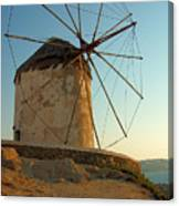 Mykonos Windmill  Canvas Print