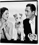 Myrna Loy Asta William Powell Publicity Photo The Thin Man 1936 Canvas Print