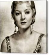Myrna Loy, Vintage Actress Canvas Print