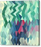 Myrtle Green Abstract Low Polygon Background Canvas Print