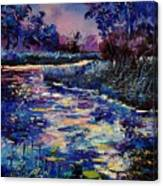 Mysterious Blue Pond Canvas Print