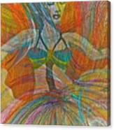 Mysterious Dancer Canvas Print