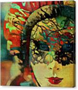 Mysterious Mask Canvas Print