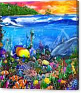 Mysterious Ocean City Canvas Print