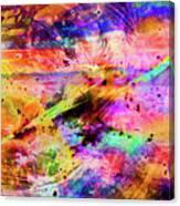 Mysterious Sunset Debris Canvas Print