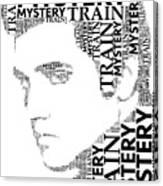 Mystery Train Elvis Wordart Canvas Print
