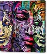 Mystic City Faces - Version B  Canvas Print
