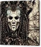 Mystic Future And Past - Ion Prophecies - Monotone  Canvas Print