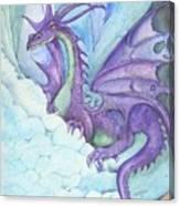Mystic Ice Palace Dragon Canvas Print
