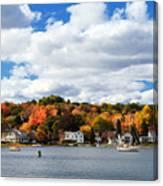 Mystic River In Autumn Canvas Print