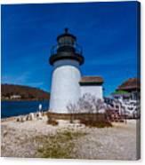 Mystic Seaport Lighthouse Canvas Print