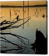 Mystical Sunrise On The Lake Canvas Print