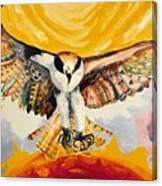 Mythical Eagle Perching Oil Painting Canvas Print