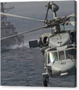 N Mh-60s Knight Hawk Delivers Supplies Canvas Print
