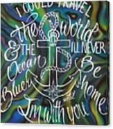 N/z Abalone /lettering Canvas Print