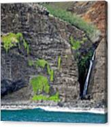Na Pali Waterfall Canvas Print