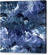 Nage Avec Les Dauphins Canvas Print
