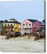 Nags Head Beach Houses Canvas Print