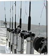 Nags Head Nc Fishing Poles Canvas Print