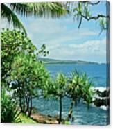 Nahiku Kaelua Hanawi Honolulunui Maui Hawaii Canvas Print