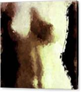 Naked Female Torso  Canvas Print