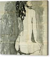 Naked Figure.  Canvas Print